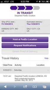 FedEx Shipping to ALC12