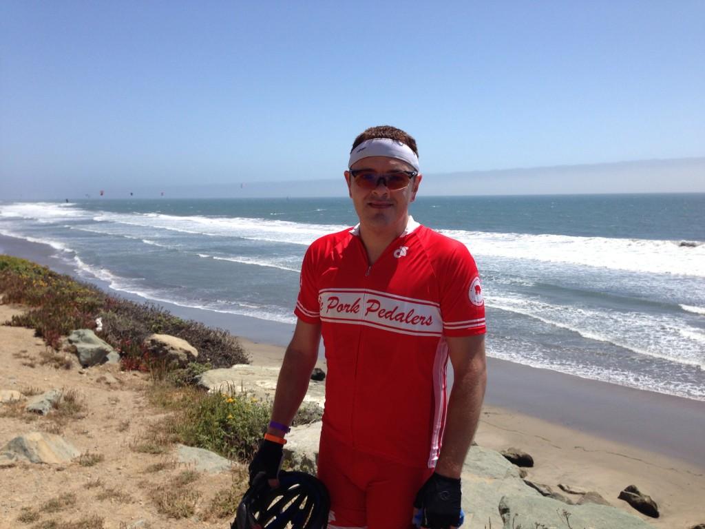 Garrett near Santa Cruz on Day One - ALC 2013